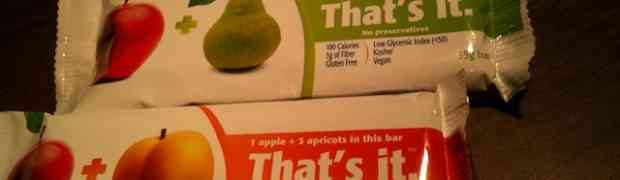 That's It Fruit Bar Review