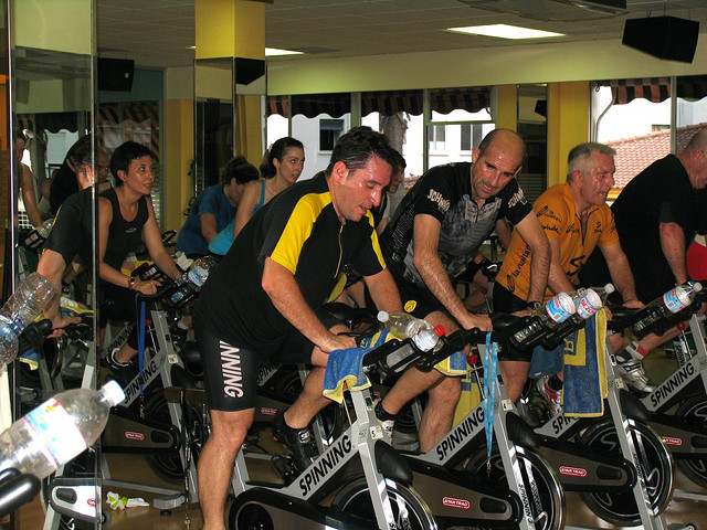 fitness alternative with spinning class
